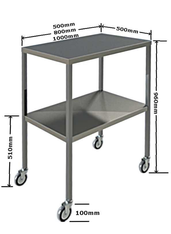 Dimensions 4H104 Instrument Trolley